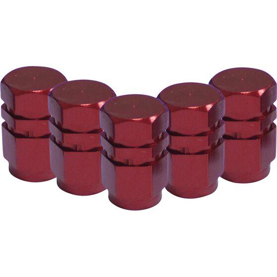 SCA Valve Stem Caps - Red, 5 Pack, , scaau_hi-res