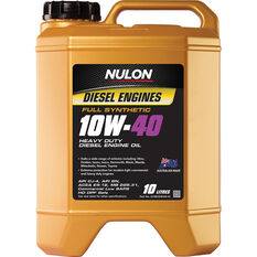 Nulon Full Synthetic Heavy Duty Diesel Engine Oil 10W-40 10 Litre, , scaau_hi-res