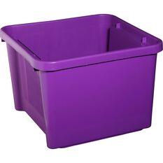 Plastic Storage Bin - Mauve, 30 Litre, , scaau_hi-res