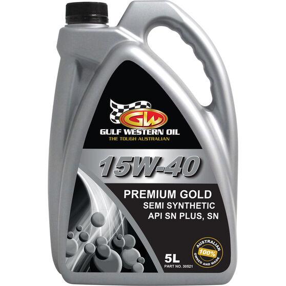 Gulf Western Premium Gold Engine Oil 15W-40 5 Litre, , scaau_hi-res