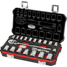 "ToolPRO Bathurst Socket Set - 3/8"" & 1/4"" Drive, Metric, 20 Piece, , scaau_hi-res"