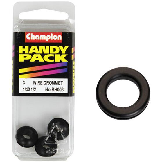 Champion Wiring Grommet - 1 / 4 X 1 / 2inch, BH003, Handy Pack, , scaau_hi-res