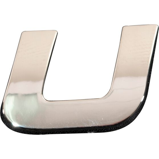 SCA 3D Chrome Badge Letter U, , scaau_hi-res