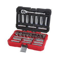 "ToolPRO Socket Set 3/8"" Drive Metric/SAE 40 Piece, , scaau_hi-res"