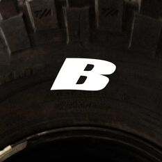 Tire Stickers - Letter B, , scaau_hi-res