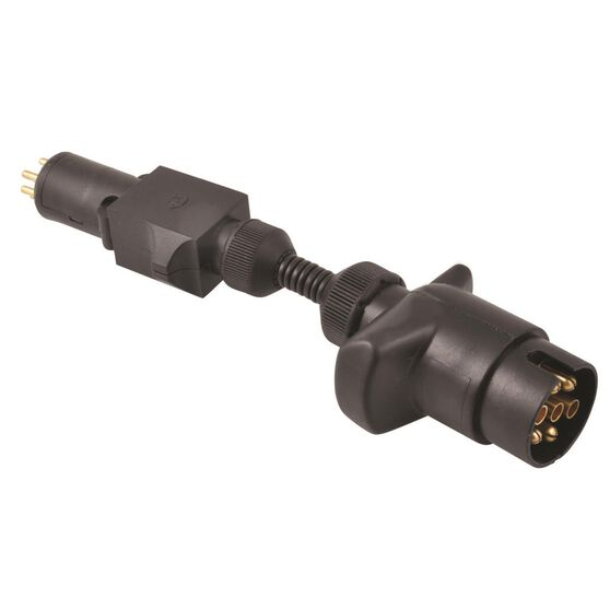SCA Trailer Adaptor - 7 Pin Large Round Socket to 7 Pin Small Round Plug, , scaau_hi-res