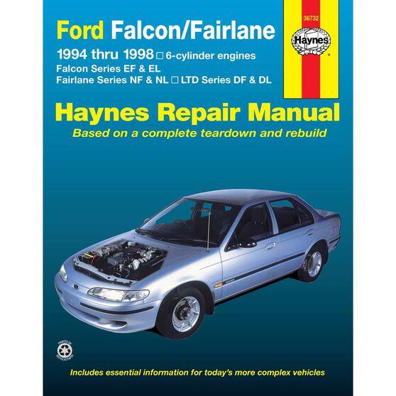 Haynes Car Manual For Ford Falcon / Fairlane 1994-1998 - 36732, , scaau_hi-res