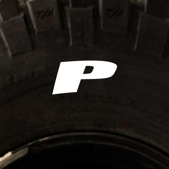 Tire Stickers - Letter P, , scaau_hi-res
