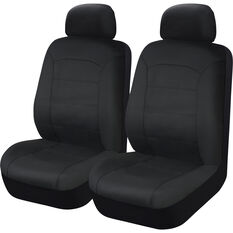 SCA Leather Look Seat Covers - Black Adjustable Headrests Size 30 Front Pair Airbag Compatible, , scaau_hi-res