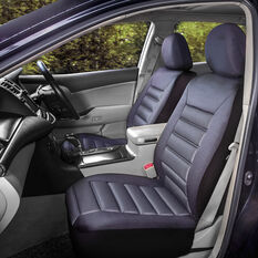 SCA Memory Foam Seat Cover - Black Adjustable Headrests Front Pair Size 30, , scaau_hi-res
