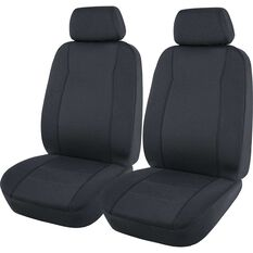 SCA Jacquard Seat Covers - Charcoal, Adjustable Headrests, Airbag Compatible, , scaau_hi-res