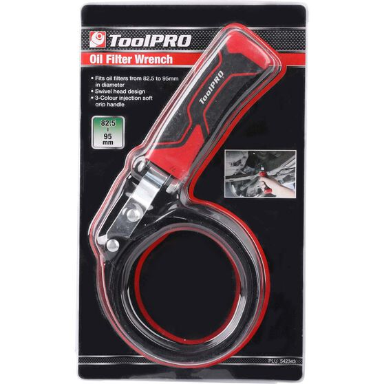ToolPRO Oil Filter Wrench - 82-95mm, , scaau_hi-res