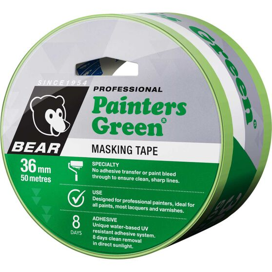 Norton Painters Masking Tape - Green, 36mm x 50m, , scaau_hi-res