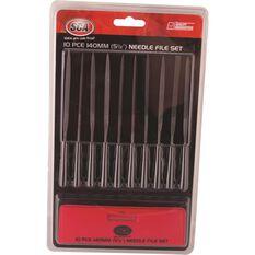 SCA Needle File Set - 140mm, 10 Piece, , scaau_hi-res