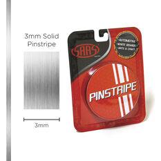 SAAS Pinstripe Solid Chrome Mylar 3mm x 10m, , scaau_hi-res