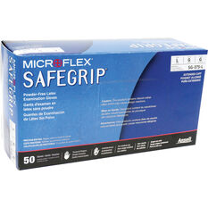MICROFLEX Safegrip PF Latex Gloves 50 pack Large, , scaau_hi-res