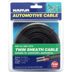 Narva Automotive Cable Twin Sheath 10 Metres 15 AMP, , scaau_hi-res