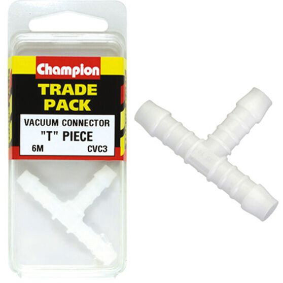 Champion T Pieces - 6mm, CVC3, Trade Pack, , scaau_hi-res