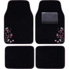 Apple Blossom Car Floor Mats - Carpet, Pink, Set of 4, , scaau_hi-res