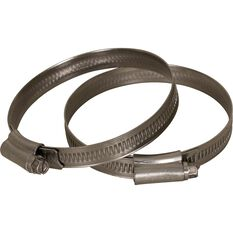 Calibre Hose Clamps - Stainless Steel, Solid Band, 60-80mm, 2 Pieces, , scaau_hi-res