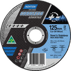 Norton Cordless Cutting Wheel - 125mm, , scaau_hi-res