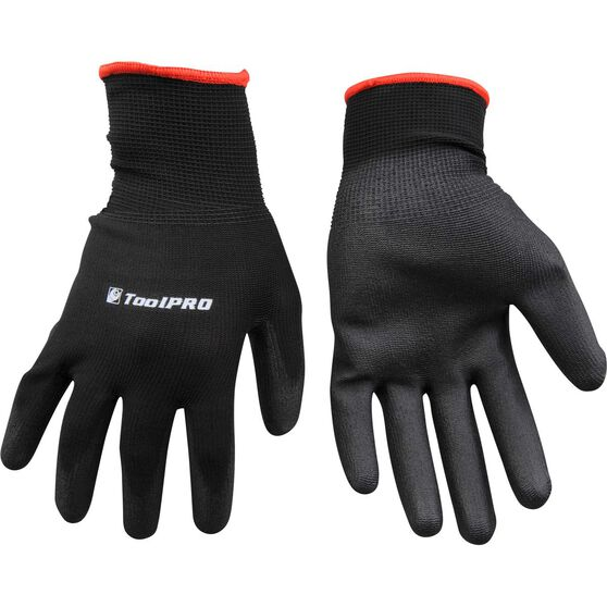 ToolPRO Polyurethane Dipped Gloves - One Size, Black, , scaau_hi-res