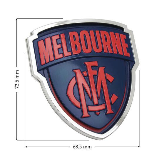 Melbourne AFL Supporter Logo - 3D Chrome Finish, , scaau_hi-res