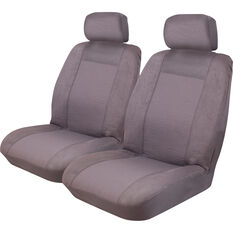Imperial Seat Covers - Charcoal Front Pair Adjustable Headrests Size 30, , scaau_hi-res