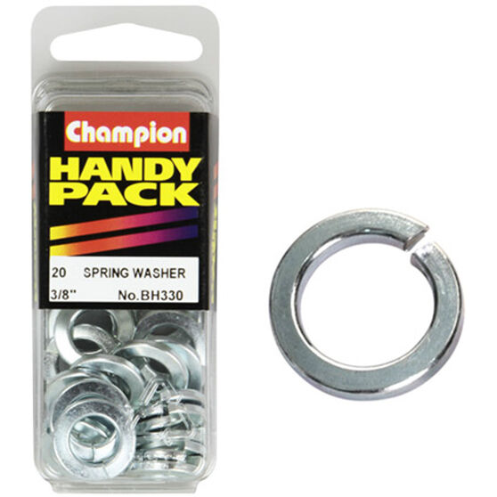 Champion Spring Washers - 3 / 8inch, BH330, Handy Pack, , scaau_hi-res