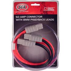 SCA 50 AMP Plug - Piggyback Lead, 30cm, 8 AWG, , scaau_hi-res