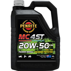 Penrite MC-4ST Mineral Motorcycle Oil 20W-50 4 Litre, , scaau_hi-res