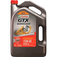Castrol GTX Ultra Clean Engine Oil - 15W-40, 5.5 Litre, , scaau_hi-res