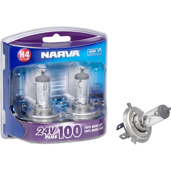 Narva Headlight Globe, Plus 100 - H4, 24V, 75 / 70W, , scaau_hi-res