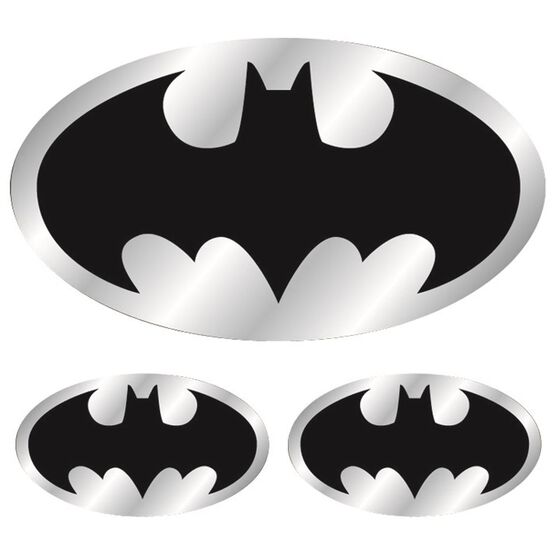 Hot Stuff Sticker - Batman Logo, Chrome, , scaau_hi-res