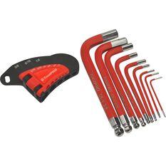 ToolPRO Short Hex Key Set SAE 9 Pieces, , scaau_hi-res