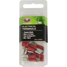 SCA Electrical Terminals - Female Blade, Red, 6.3mm, 18 Pack, , scaau_hi-res