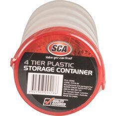 SCA Round Plastic Storage Containers - 4 Pack, , scaau_hi-res
