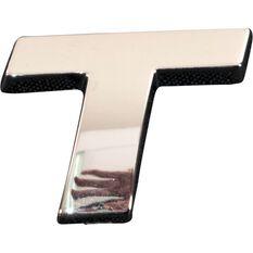SCA 3D Chrome Badge Letter T, , scaau_hi-res