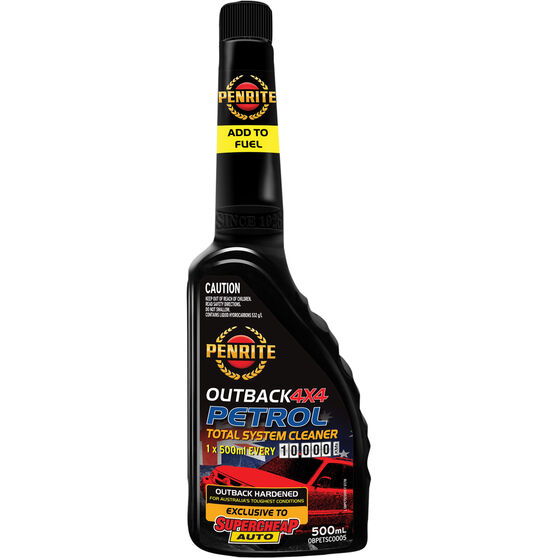 Penrite Outback 4x4 Total Fuel System Cleaner Petrol 500mL, , scaau_hi-res