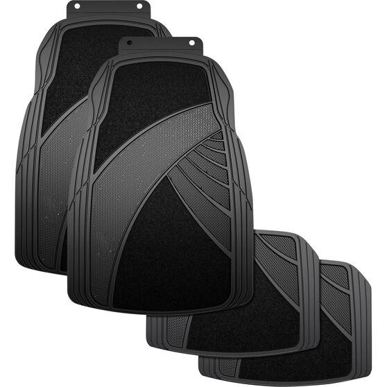 Armor All Combination Car Floor Mats Carpet/Rubber Black Set of 4, , scaau_hi-res