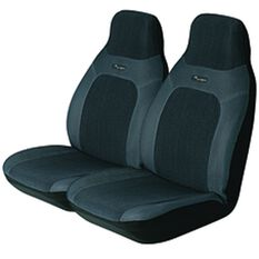 Seat Covers - Grey, Built-in Headrests, Size 60, Front Pair, Airbag Compatible, , scaau_hi-res
