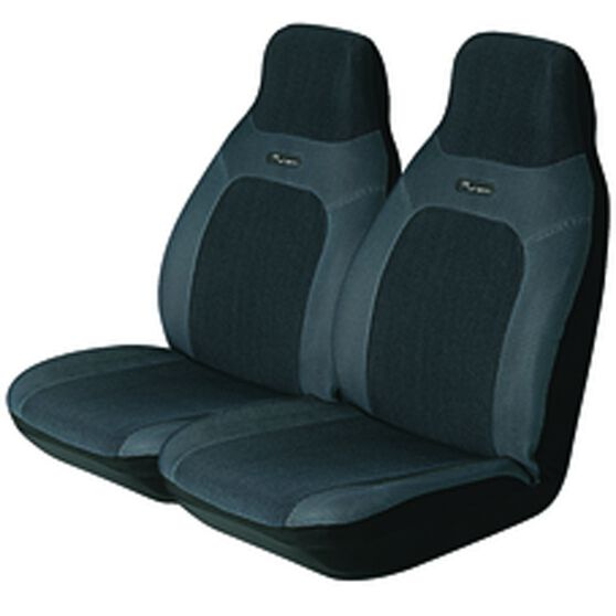 Urban Seat Covers - Grey, Built-in Headrests, Size 60, Front Pair, Airbag Compatible, , scaau_hi-res