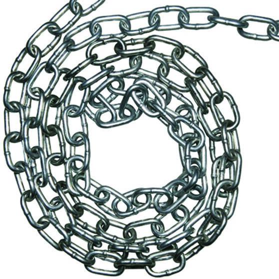 Icanic Galvanised Welded Chain - 8mm, Per Metre, , scaau_hi-res