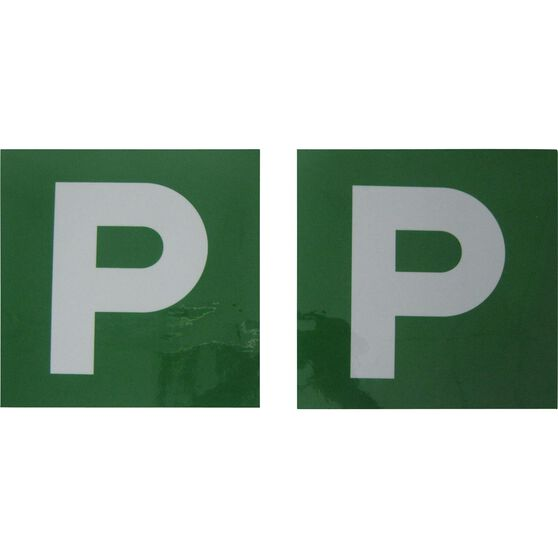 SCA P Plate - Magnetic, Green, VIC/WA, 2 Pack, , scaau_hi-res