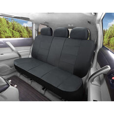 SCA Leather Look Seat Covers - Black Built-In Headrests Size 06H Rear Seat, , scaau_hi-res