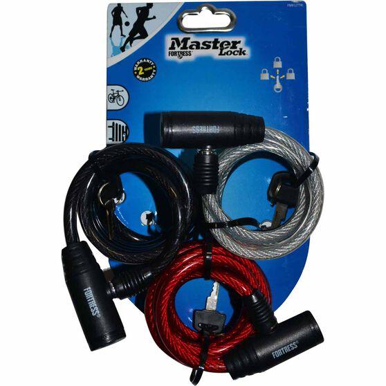Master Lock Fortress Bike Lock - 8mm x 1.8m, 3 Pack, , scaau_hi-res