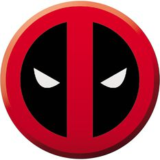 Hot Stuff Sticker - Deadpool Logo, Vinyl, , scaau_hi-res