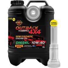 Penrite Outback 4x4 Semi Synthetic Diesel Engine Oil - 10W-40 - 10 Litre, , scaau_hi-res