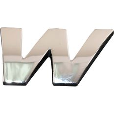 SCA 3D Chrome Badge Letter W, , scaau_hi-res