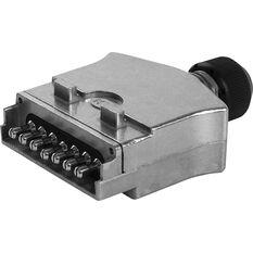 KT Cable Trailer Plug, Metal - Flat, 7 Pin, , scaau_hi-res
